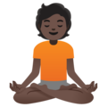 Person in Lotus Position: Dark Skin Tone on Google Android 11.0 December 2020 Feature Drop