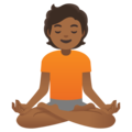 Person in Lotus Position: Medium-Dark Skin Tone on Google Android 11.0 December 2020 Feature Drop