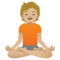 Person in Lotus Position: Medium-Light Skin Tone on Google Android 11.0 December 2020 Feature Drop