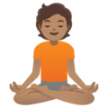 Person in Lotus Position: Medium Skin Tone on Google Android 11.0 December 2020 Feature Drop