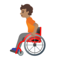 Person in Manual Wheelchair: Medium Skin Tone on Google Android 11.0 December 2020 Feature Drop