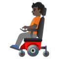 Person in Motorized Wheelchair: Dark Skin Tone on Google Android 11.0 December 2020 Feature Drop
