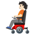 Person in Motorized Wheelchair: Light Skin Tone on Google Android 11.0 December 2020 Feature Drop