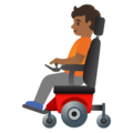 Person in Motorized Wheelchair: Medium-Dark Skin Tone on Google Android 11.0 December 2020 Feature Drop