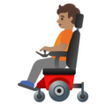 Person in Motorized Wheelchair: Medium Skin Tone on Google Android 11.0 December 2020 Feature Drop