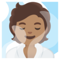 Person in Steamy Room: Medium Skin Tone on Google Android 11.0 December 2020 Feature Drop