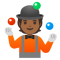 Person Juggling: Medium-Dark Skin Tone on Google Android 11.0 December 2020 Feature Drop