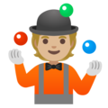 Person Juggling: Medium-Light Skin Tone on Google Android 11.0 December 2020 Feature Drop