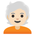 Person: Light Skin Tone, White Hair on Google Android 11.0 December 2020 Feature Drop