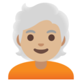 Person: Medium-Light Skin Tone, White Hair on Google Android 11.0 December 2020 Feature Drop