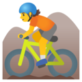Person Mountain Biking on Google Android 11.0 December 2020 Feature Drop