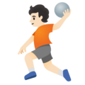 Person Playing Handball: Light Skin Tone on Google Android 11.0 December 2020 Feature Drop
