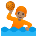 Person Playing Water Polo: Medium Skin Tone on Google Android 11.0 December 2020 Feature Drop