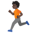 Person Running: Dark Skin Tone on Google Android 11.0 December 2020 Feature Drop