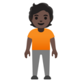 Person Standing: Dark Skin Tone on Google Android 11.0 December 2020 Feature Drop