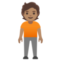 Person Standing: Medium Skin Tone on Google Android 11.0 December 2020 Feature Drop