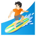 Person Surfing: Light Skin Tone on Google Android 11.0 December 2020 Feature Drop