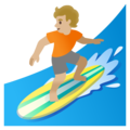Person Surfing: Medium-Light Skin Tone on Google Android 11.0 December 2020 Feature Drop
