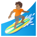 Person Surfing: Medium Skin Tone on Google Android 11.0 December 2020 Feature Drop