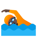 Person Swimming: Dark Skin Tone on Google Android 11.0 December 2020 Feature Drop