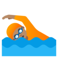 Person Swimming: Medium Skin Tone on Google Android 11.0 December 2020 Feature Drop