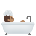 Person Taking Bath: Medium Skin Tone on Google Android 11.0 December 2020 Feature Drop