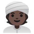 Person Wearing Turban: Dark Skin Tone on Google Android 11.0 December 2020 Feature Drop