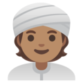 Person Wearing Turban: Medium Skin Tone on Google Android 11.0 December 2020 Feature Drop