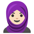 Woman with Headscarf: Light Skin Tone on Google Android 11.0 December 2020 Feature Drop