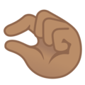 Pinching Hand: Medium Skin Tone on Google Android 11.0 December 2020 Feature Drop