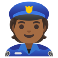 Police Officer: Medium-Dark Skin Tone on Google Android 11.0 December 2020 Feature Drop