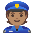 Police Officer: Medium Skin Tone on Google Android 11.0 December 2020 Feature Drop