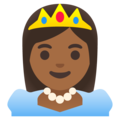 Princess: Medium-Dark Skin Tone on Google Android 11.0 December 2020 Feature Drop