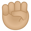 Raised Fist: Medium-Light Skin Tone on Google Android 11.0 December 2020 Feature Drop
