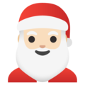 Santa Claus: Light Skin Tone on Google Android 11.0 December 2020 Feature Drop