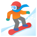 Snowboarder: Light Skin Tone on Google Android 11.0 December 2020 Feature Drop