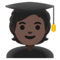 Student: Dark Skin Tone on Google Android 11.0 December 2020 Feature Drop