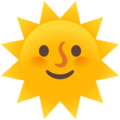 Sun with Face on Google Android 11.0 December 2020 Feature Drop