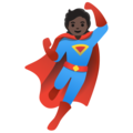 Superhero: Dark Skin Tone on Google Android 11.0 December 2020 Feature Drop