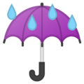 Umbrella with Rain Drops on Google Android 11.0 December 2020 Feature Drop