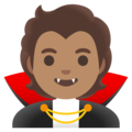Vampire: Medium Skin Tone on Google Android 11.0 December 2020 Feature Drop