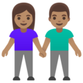 Woman and Man Holding Hands: Medium Skin Tone on Google Android 11.0 December 2020 Feature Drop