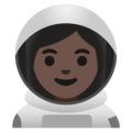 Woman Astronaut: Dark Skin Tone on Google Android 11.0 December 2020 Feature Drop