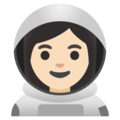 Woman Astronaut: Light Skin Tone on Google Android 11.0 December 2020 Feature Drop