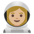 Woman Astronaut: Medium-Light Skin Tone on Google Android 11.0 December 2020 Feature Drop