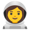 Woman Astronaut on Google Android 11.0 December 2020 Feature Drop