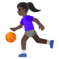 Woman Bouncing Ball: Dark Skin Tone on Google Android 11.0 December 2020 Feature Drop