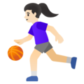Woman Bouncing Ball: Light Skin Tone on Google Android 11.0 December 2020 Feature Drop