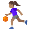 Woman Bouncing Ball: Medium Skin Tone on Google Android 11.0 December 2020 Feature Drop
