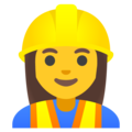 Woman Construction Worker on Google Android 11.0 December 2020 Feature Drop